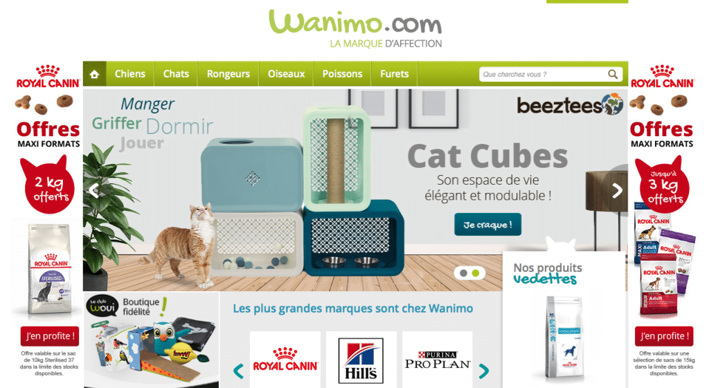 Capture écran web wanimo