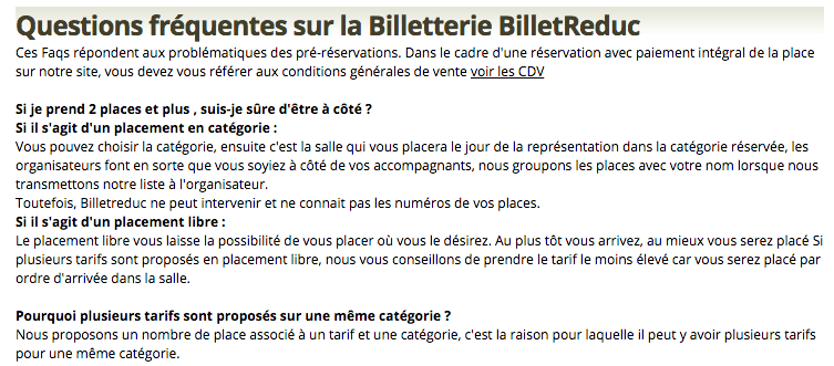 FAQ BilletReduc