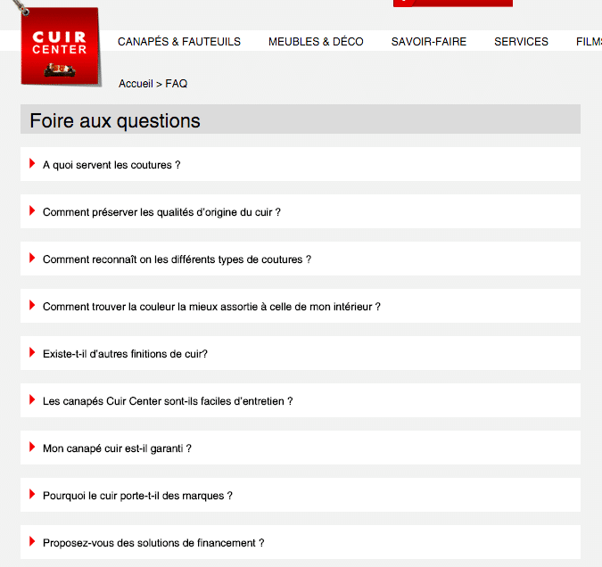 FAQ Cuir Center