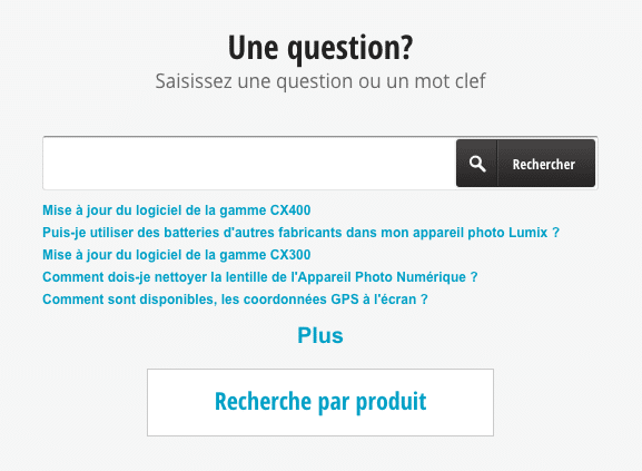 Questions Panasonic