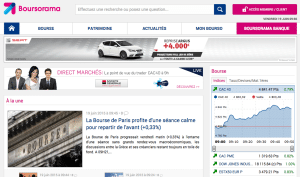 Capture du site officiel Boursorama Banque