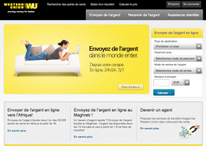 Site officiel Western Union