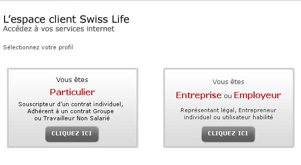 Espace personnel Swiss Life