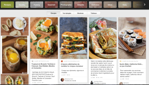 Site Pinterest (Rubrique Food)
