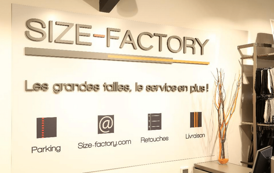 magasin size factory