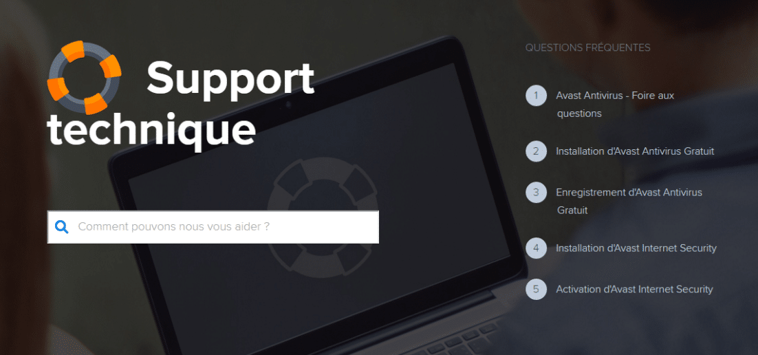 Support technique Antivirus AVAST