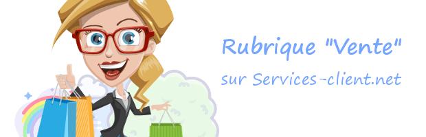 Aide pour contacter un service client Vente
