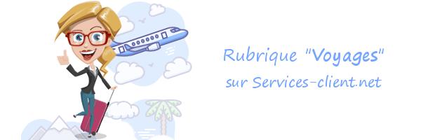 Aide pour contacter un service client Voyages