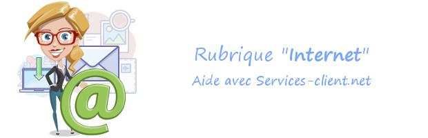 Aide pour contacter un service client Internet