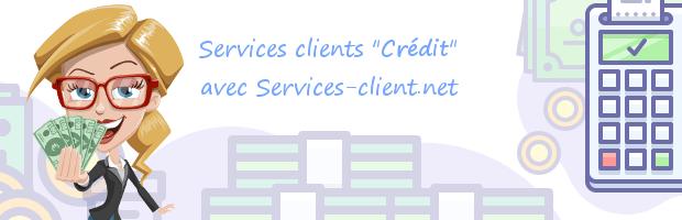 Aide pour contacter un service client Crédit