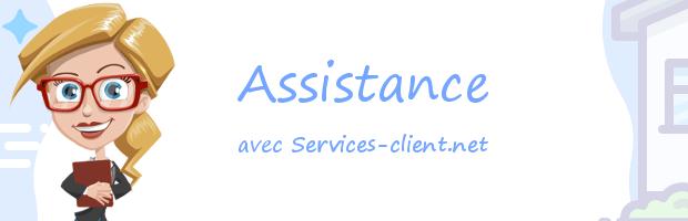 Aide pour contacter un service client Assistance