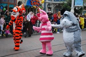 Personnages à Disneyland Paris