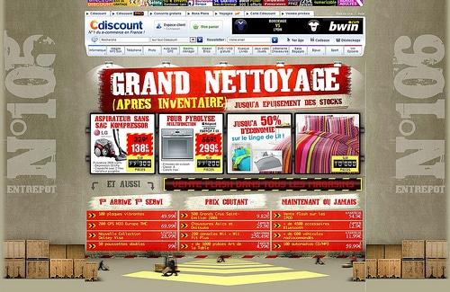 Capture d'écran du site CDiscount