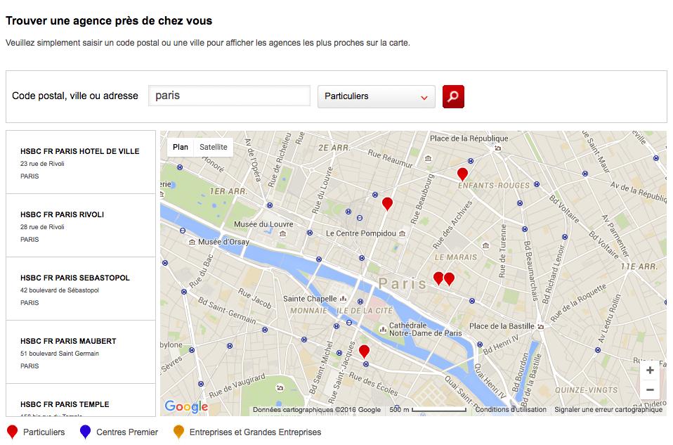Agences HSBC