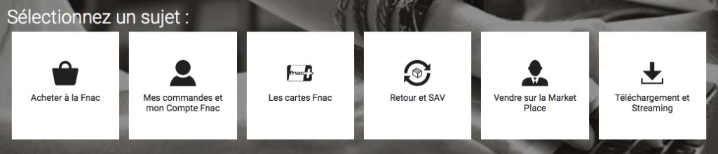 Aide en ligne FNAC