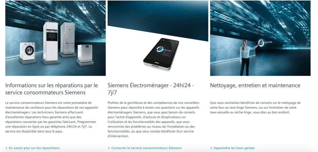 Aide en ligne Siemens