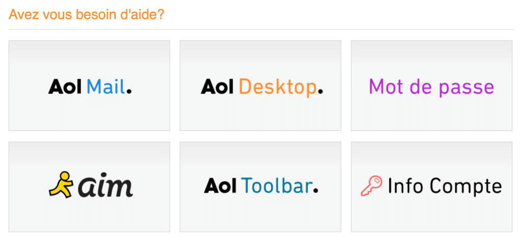 Assistance AOL