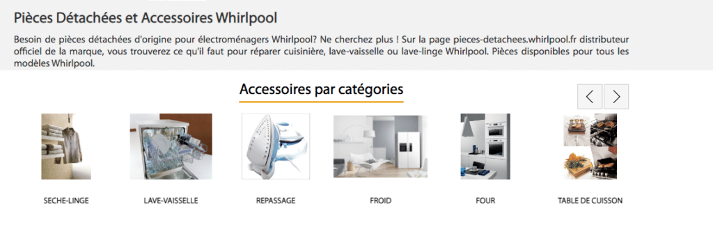 Boutiques Whirlpool