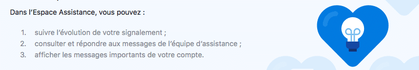 Espace Assistance Facebook