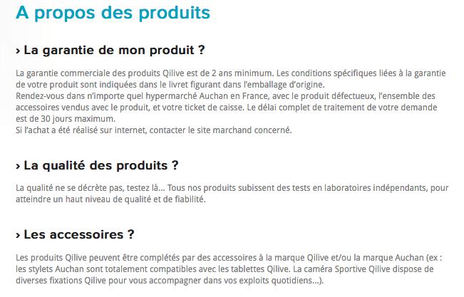 Exemple FAQ Qilive