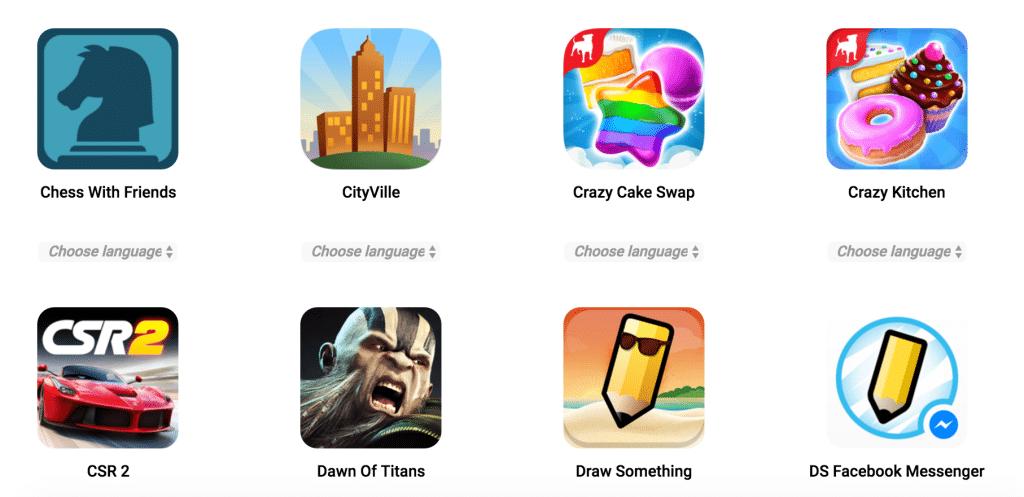 Exemple jeux Zynga