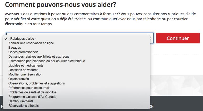 FAQ Air Canada