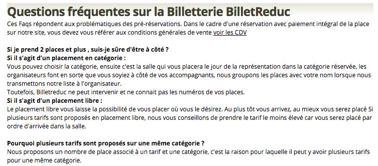 FAQ BilletReduc