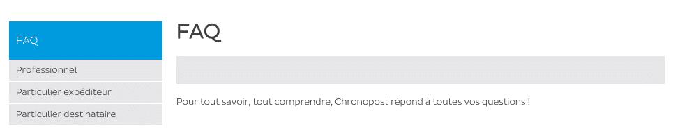 FAQ Chronopost