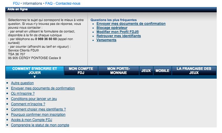 FAQ FDJ