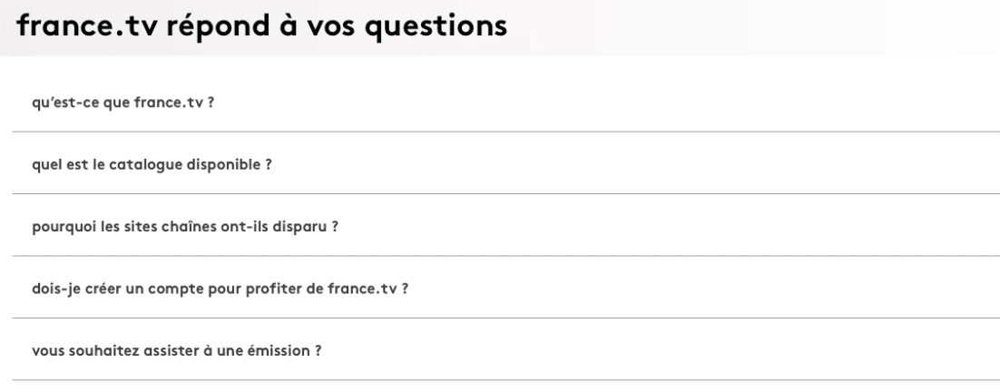 FAQ France Télévision