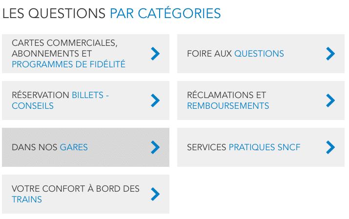 FAQ SNCF