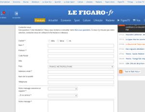 Formulaire Figaro