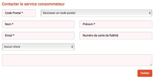 Formulaire contact Franprix