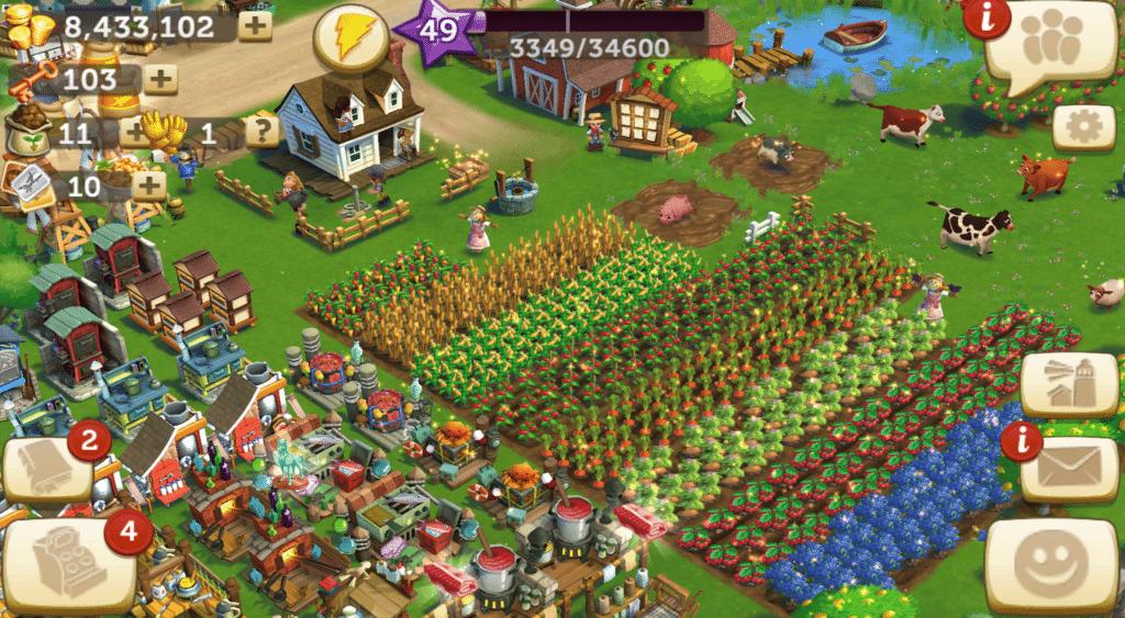 Jeu Farmville