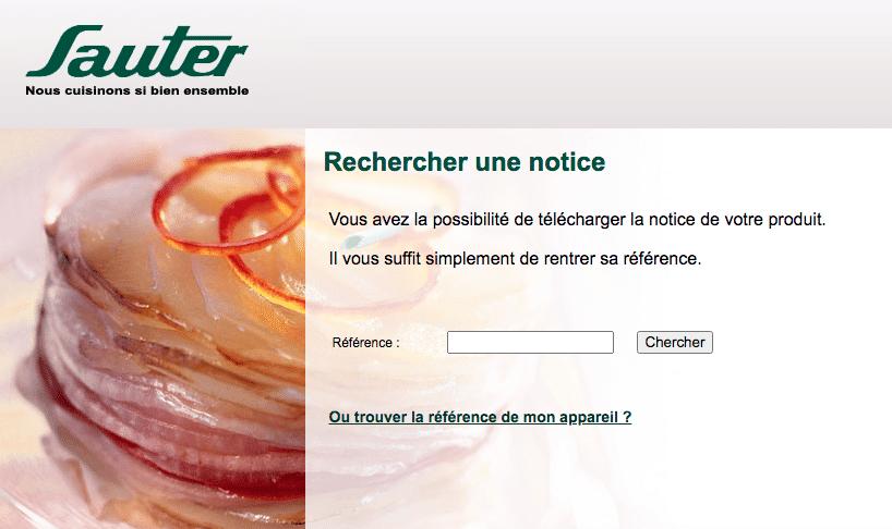 Notice Sauter
