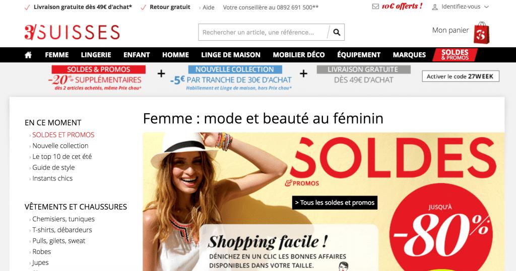 Page Web 3 Suisses