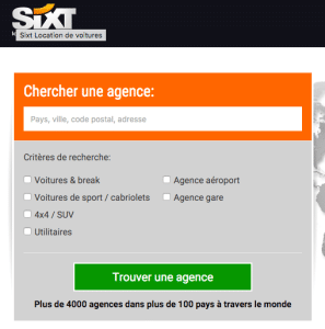 Page Web Sixt