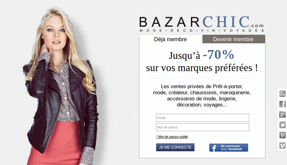 Page accueil Bazarchic