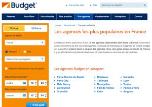 Page web Budget