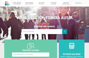 Page web Foncia