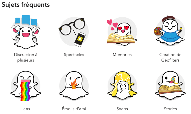 Service client Snapchat