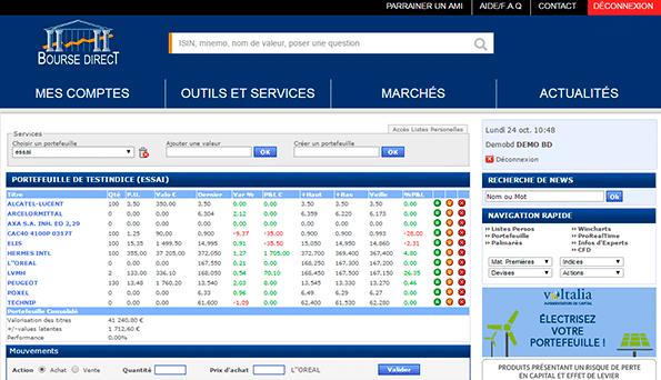 Site Bourse Direct