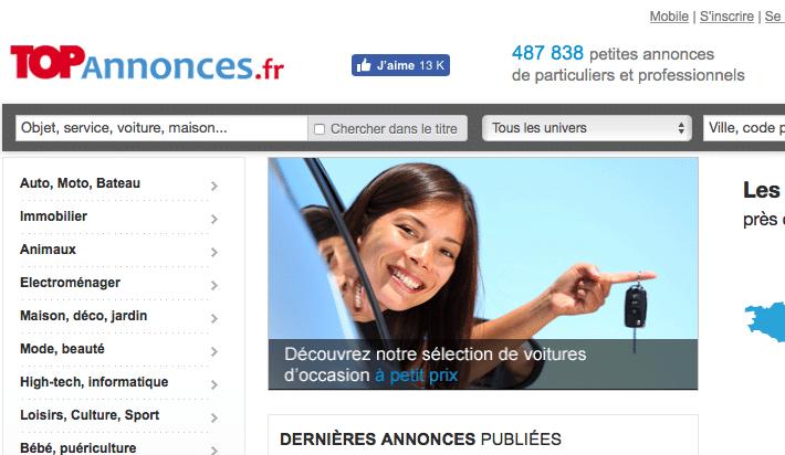 Site TopAnnonces.fr