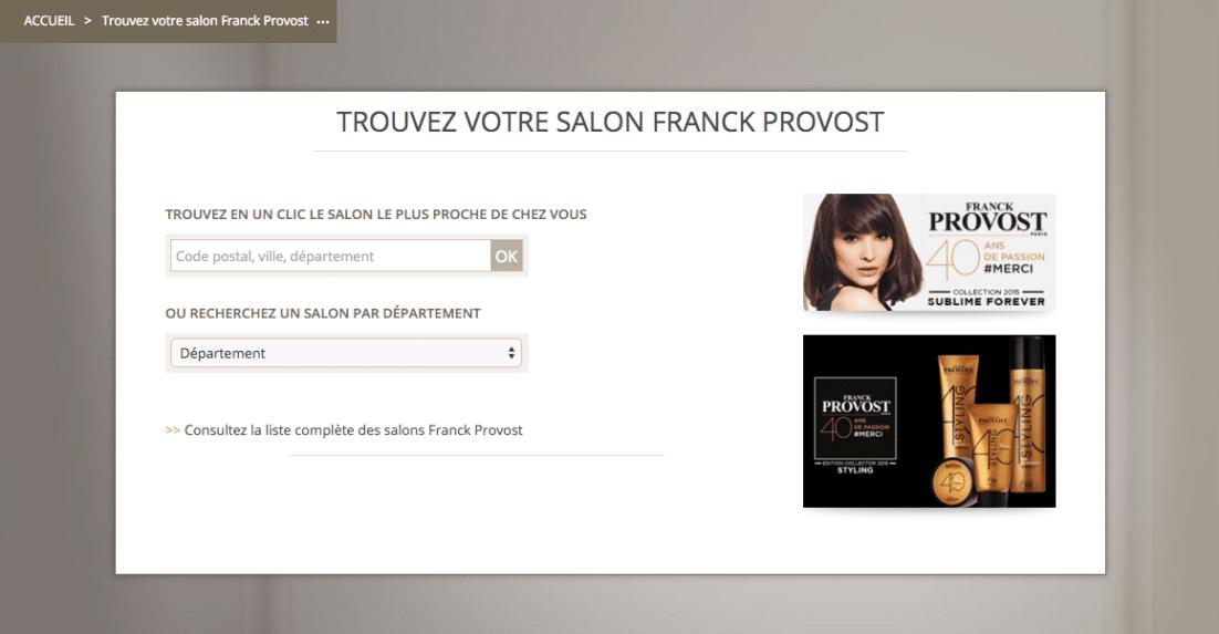 Trouvez votre salon Franck Provost