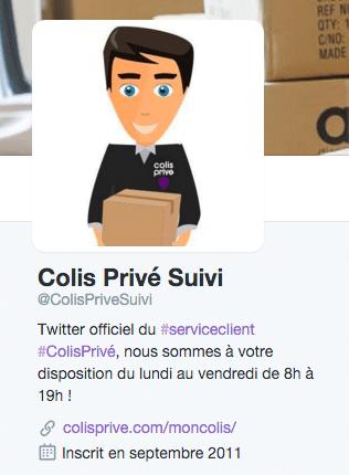 Twitter Colis Privé