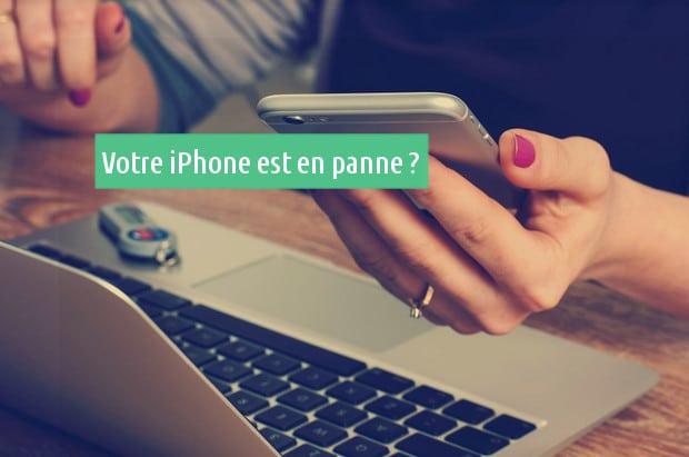 iPhone en panne