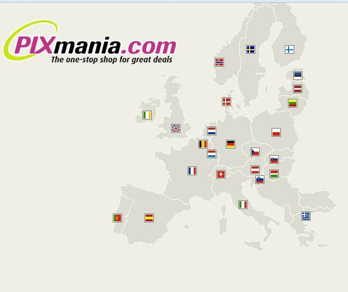 Liste des sites web Pixmania