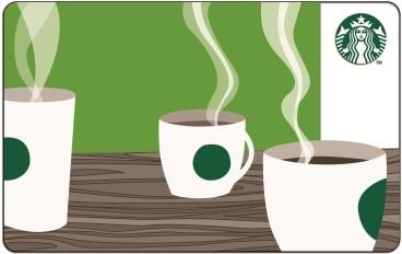 carte Starbucks coffee