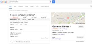 Adresse et numéro de téléphone Gaumont Nantes