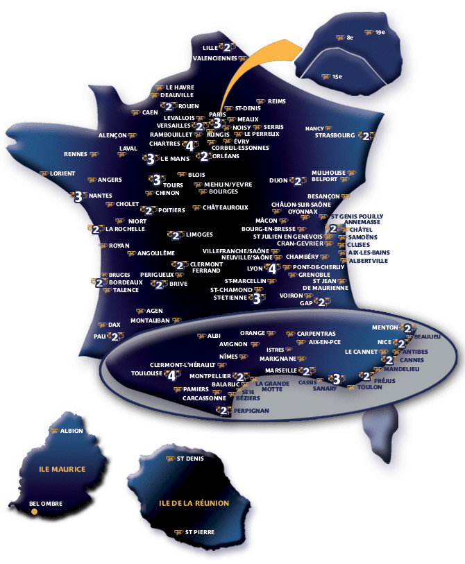 Liste agences Citya